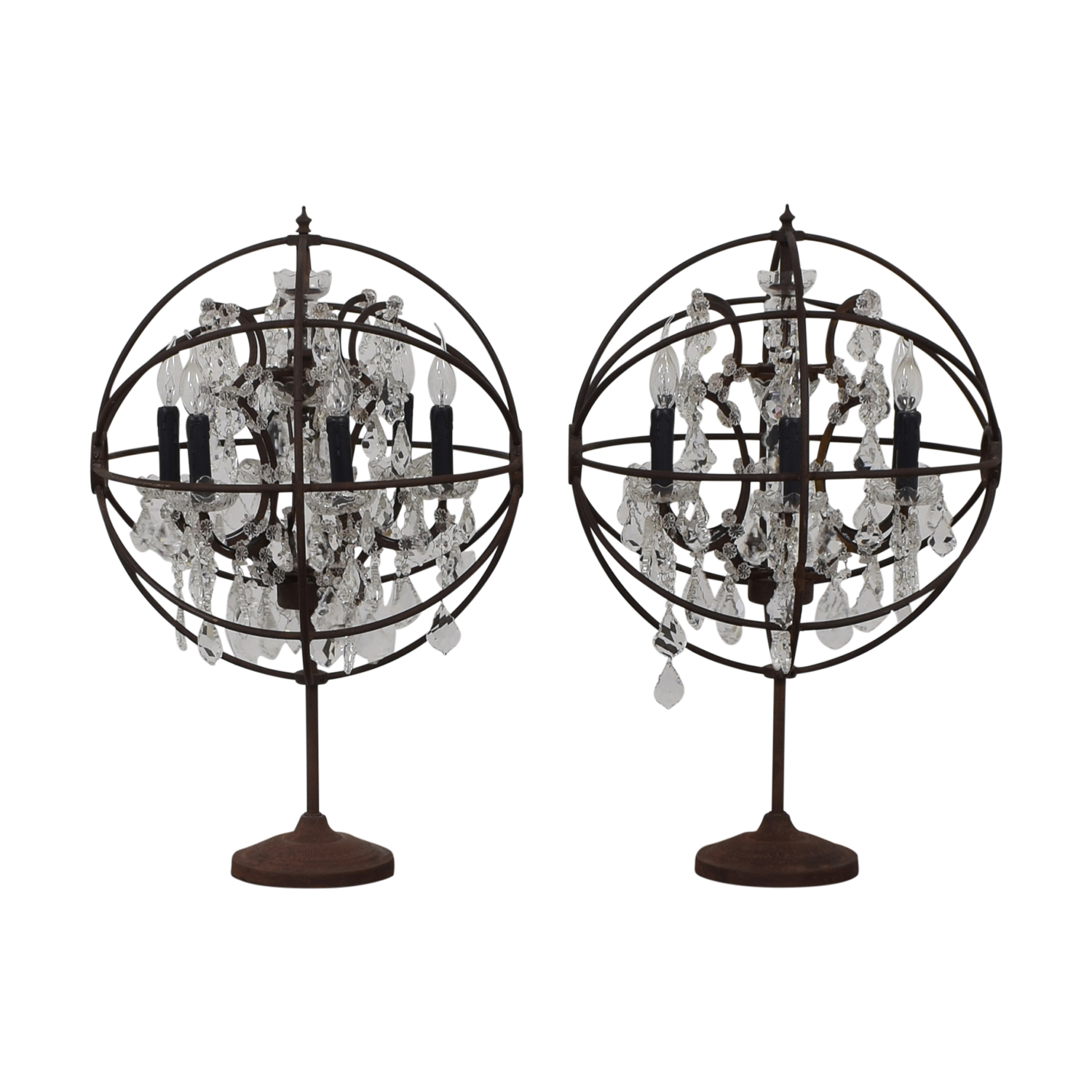 82 off restoration hardware restoration hardware orb crystal table lamps decor