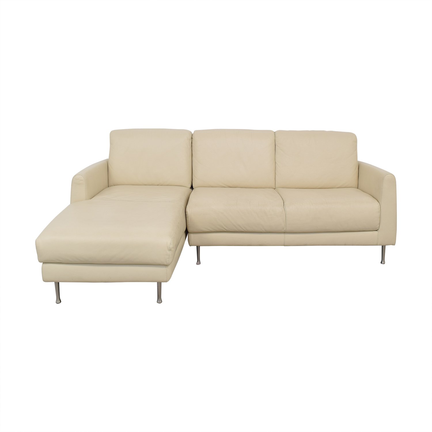 54 off ikea ikea leather sectional sofa sofas