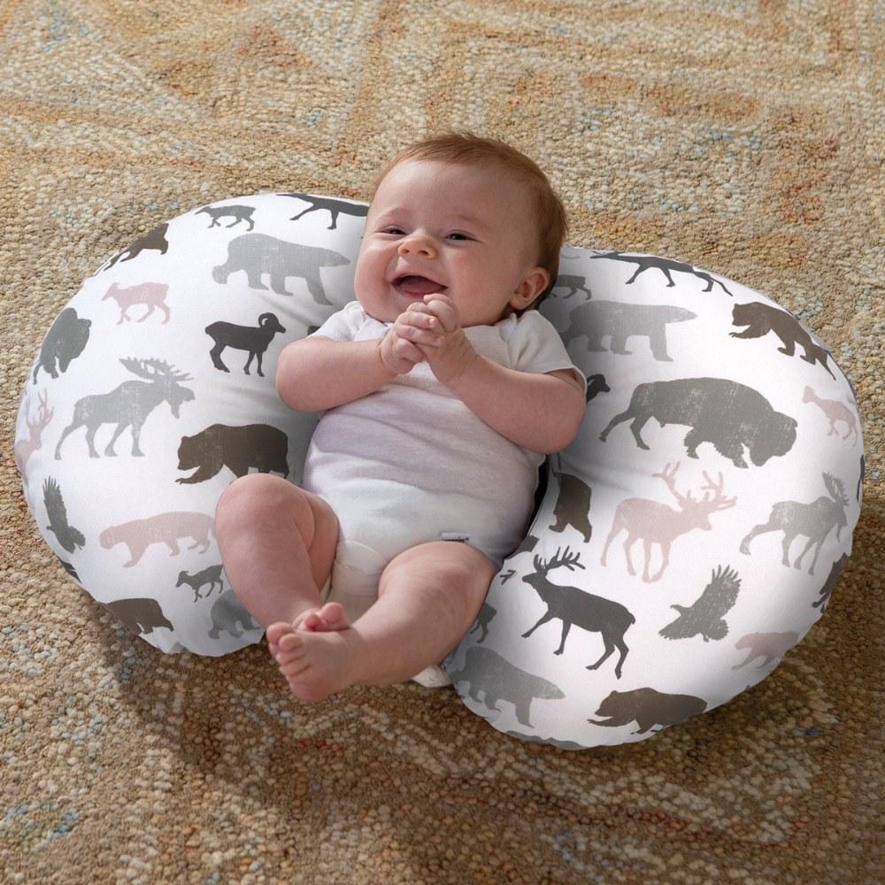 boppy pillow neutral wildlife