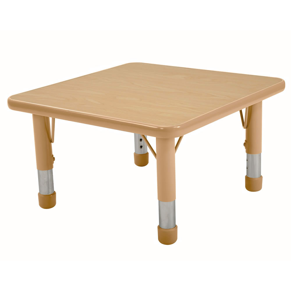 nature color chunky 24x24 square tables seats 4