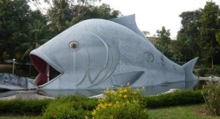 Fish shaped Aquarium at Malampuzha Gardens