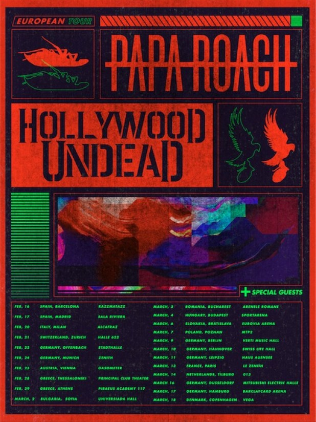Image result for papa roach hollywood undead tour