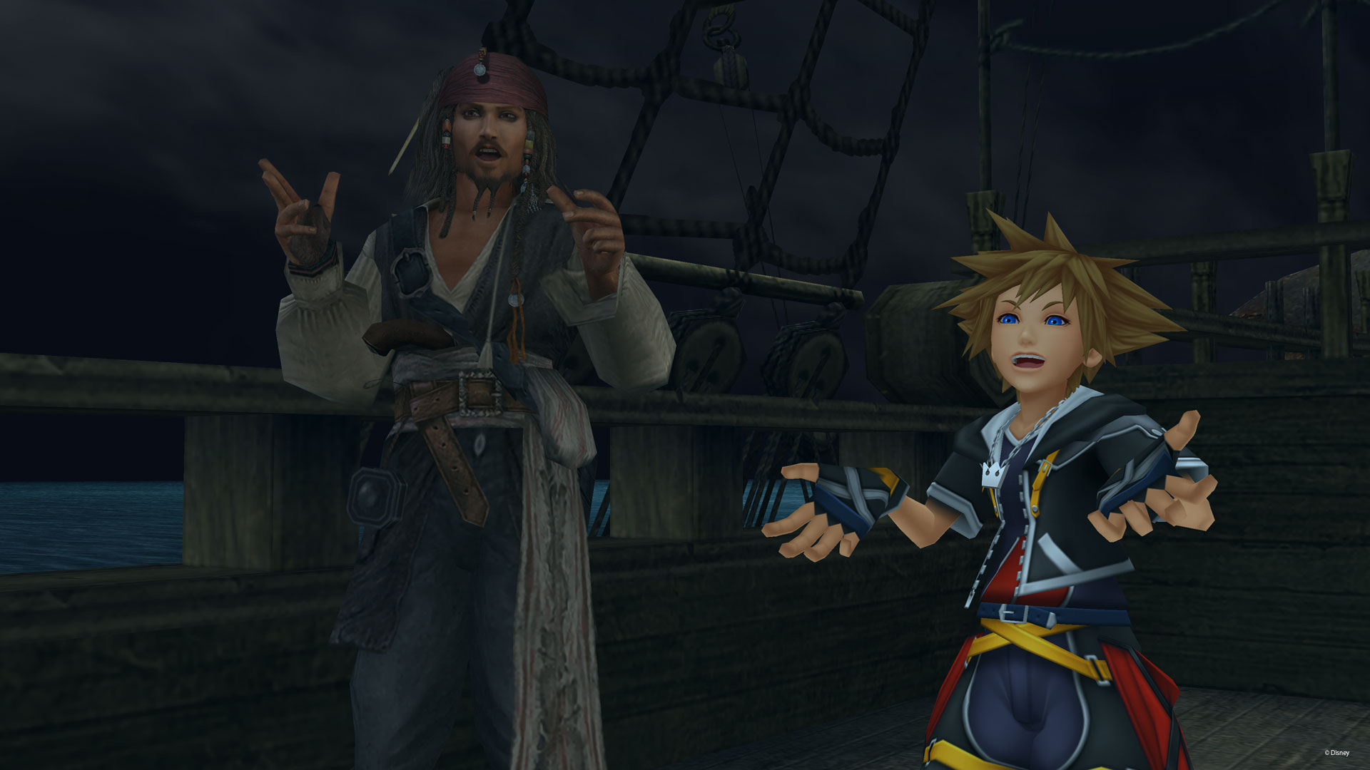 Image result for Kingdom hearts 2 final mix jack sparrow