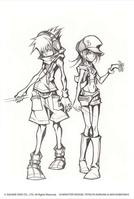 Concept Art The World Ends With You Kingdom Hearts Insider