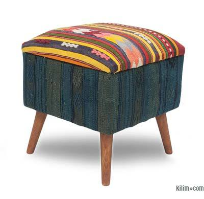 kilim or ikat upholstered benches