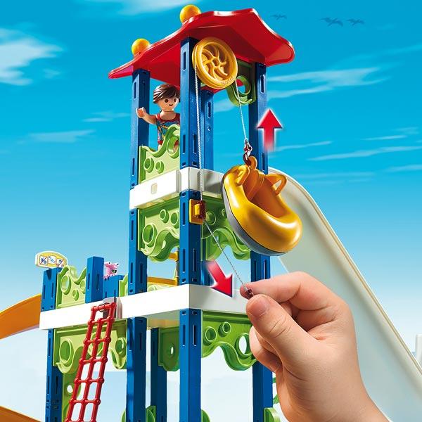 6669 Parc Aquatique Avec Toboggans Gants Playmobil
