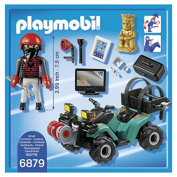 6879 Quad Avec Treuil Et Bandit Playmobil City Action