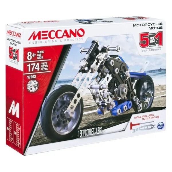 Motos 5 Modles Meccano Meccano King Jouet Meccano