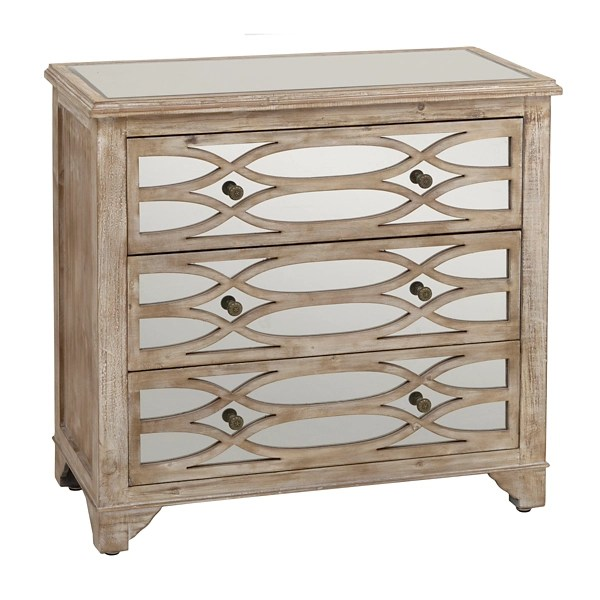 lillian mirrored 3 drawer chest