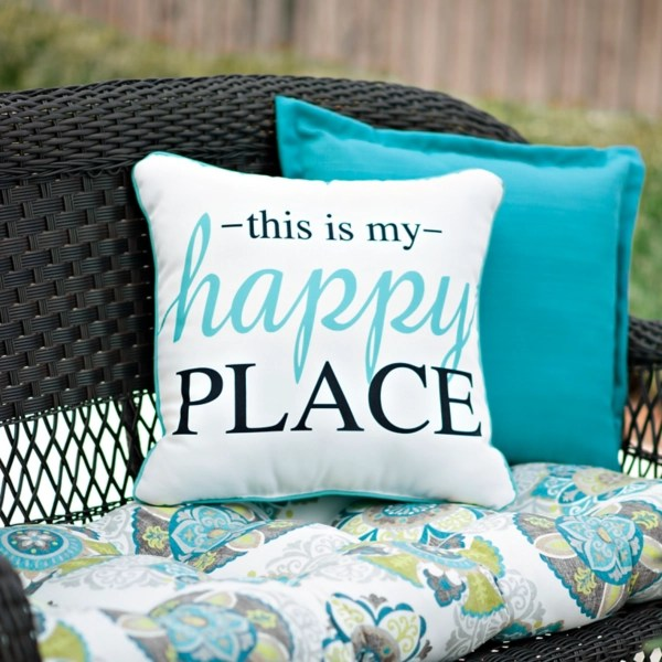 this is my happy place outdoor pillow
