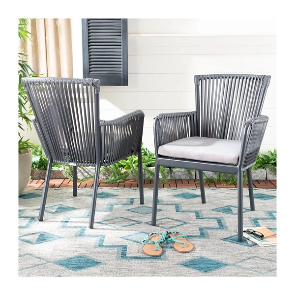 payton rope stackable outdoor chairs set of 2