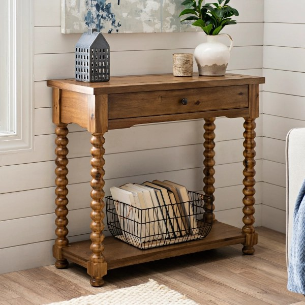davis spindle console table