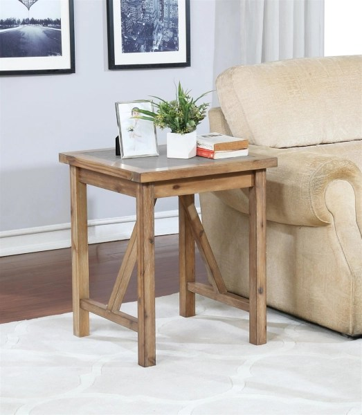 rustic industrial accent table