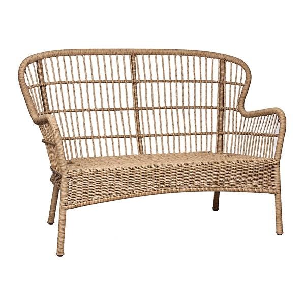 tulum natural wicker outdoor settee