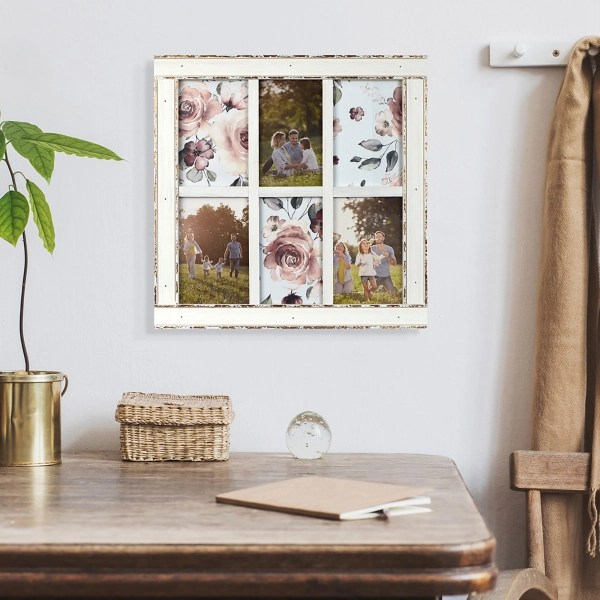 whitewashed reclaimed wood collage picture frame