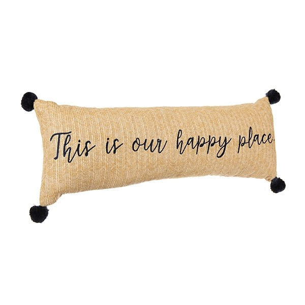 this is our happy place outdoor bench pillow