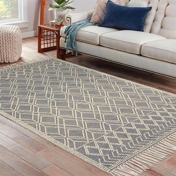 gray handwoven bohemian trance area rug 7x9