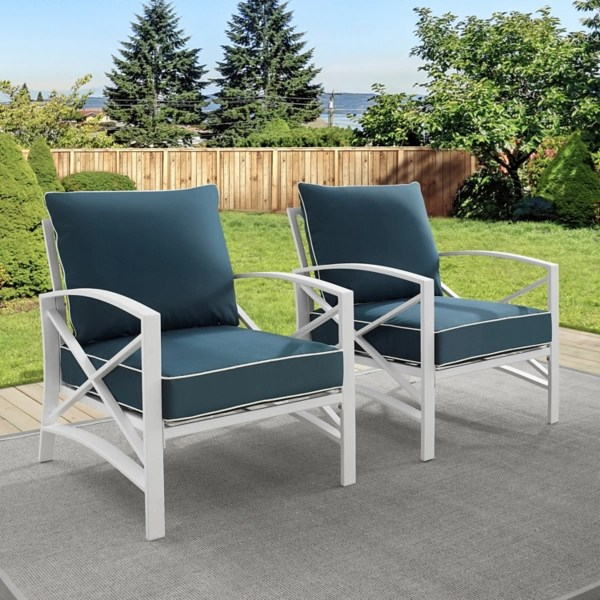 navy and white dayton outdoor chairs set of 2