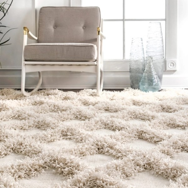 francis diamond shaggy area rug 6x9