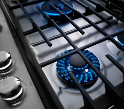 5 Burner Stainless Steel Gas Cooktop KCGS950ESS KitchenAid