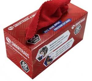 Red Smart Rags in Convenient Dispenser Box