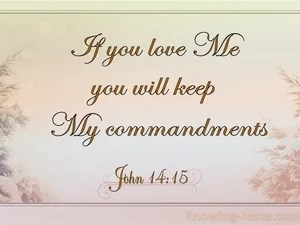 John 1415 If You Love Me You Will Keep My Commandments