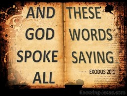 Image result for Exodus 20: 1-20