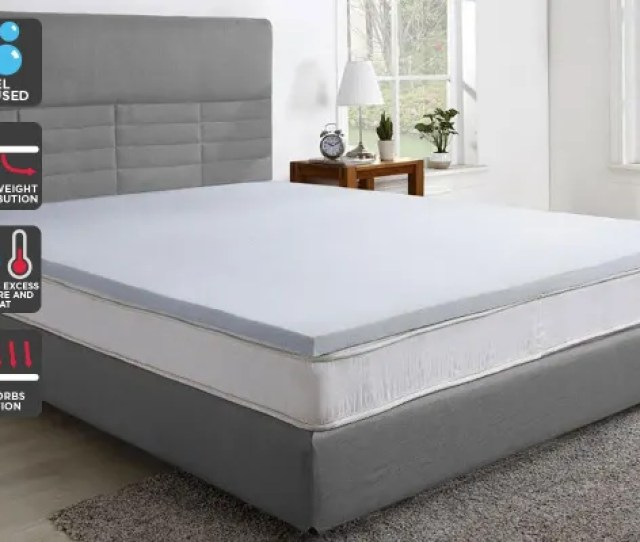 Trafalgar Gel Infused Memory Foam Mattress Topper With Bamboo Cover Single Kogan Com