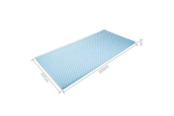 Gel Infused Egg Crate Mattress Topper King Single