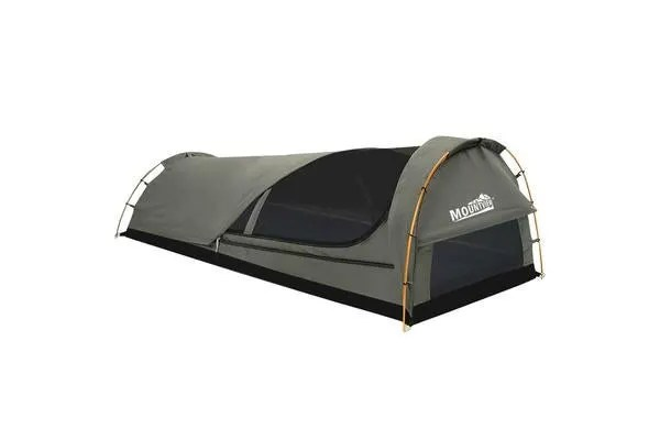 Dome Swag Camping Canvas Tent Double - Grey