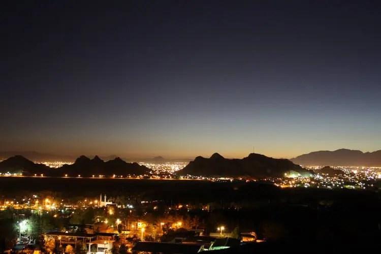 کرمان در شب