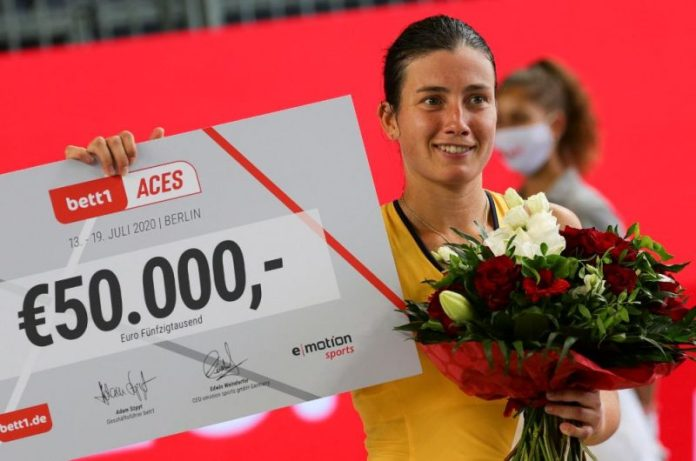 Latvian tennis player Anastasia Sevastova triumphed on Sunday in the