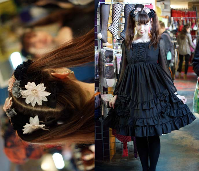 gloomth lyre dress in black gothic and lolita fashion doll clothes toronto