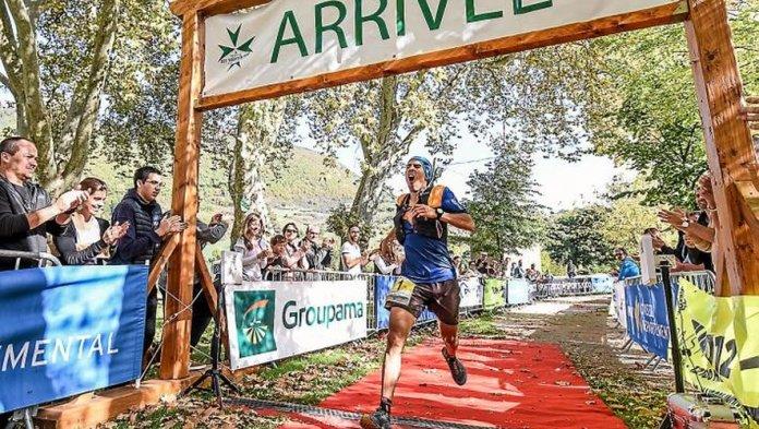 Jérémy Nion a tout donné pour battre le record de l'épreuve. Photos A.T.