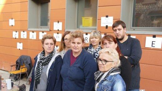 En octobre dernier devant le CCAS de Moissac, les employés municipaux du siège se sont mis en grève pour dénoncer un «mal-être» ambiant, des relations tendues avec la direction et «l'absence de réaction» des élus de la ville