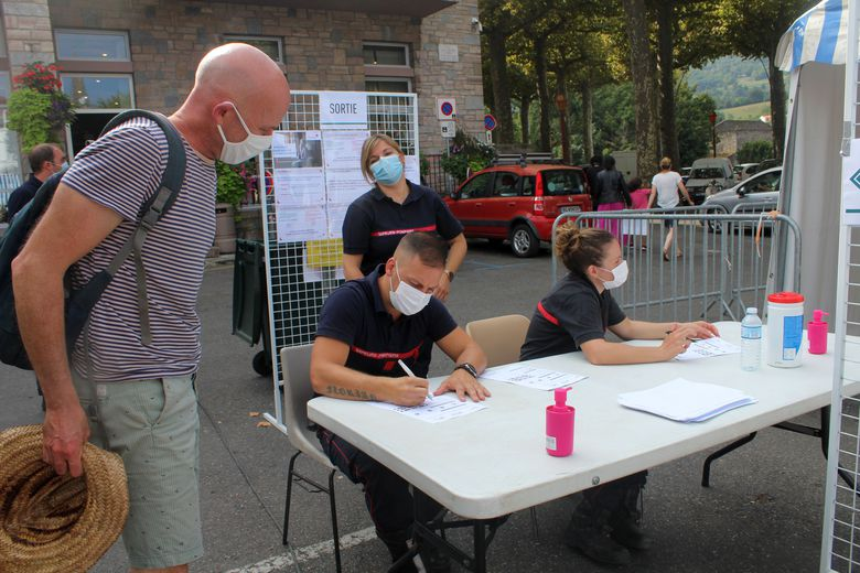 The Ariège firefighters were mobilized in particular to make those present aware of the right actions to adopt.