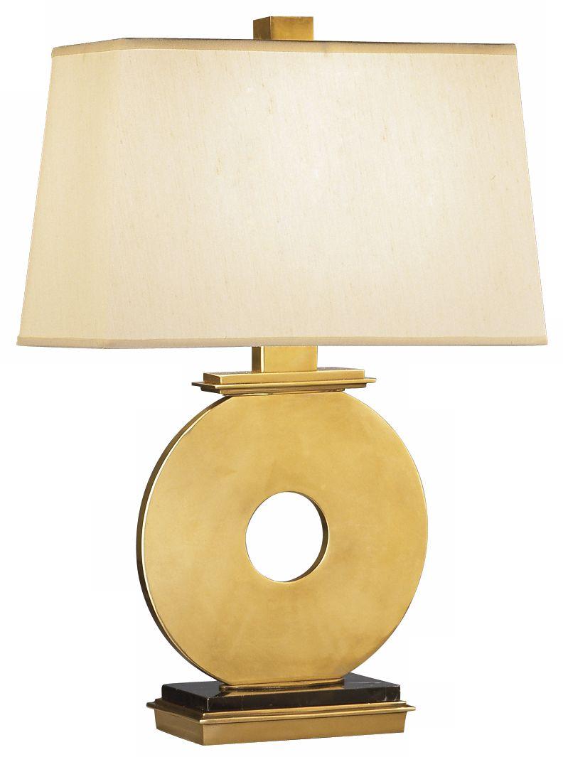 robert abbey antique brass o table lamp