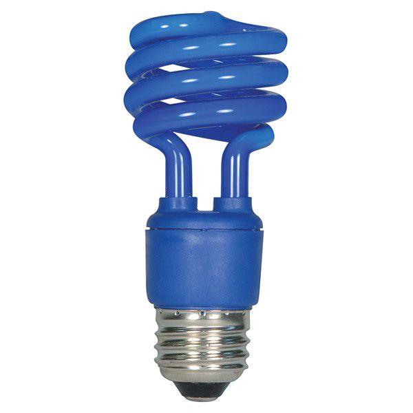 Blue Fluorescent Light Bulb