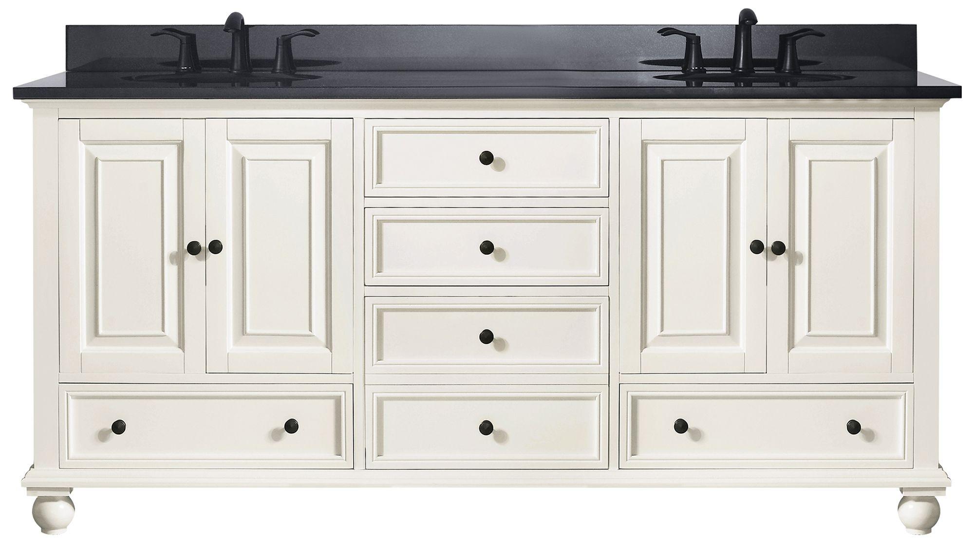 avanity thompson white 73 granite top double sink vanity