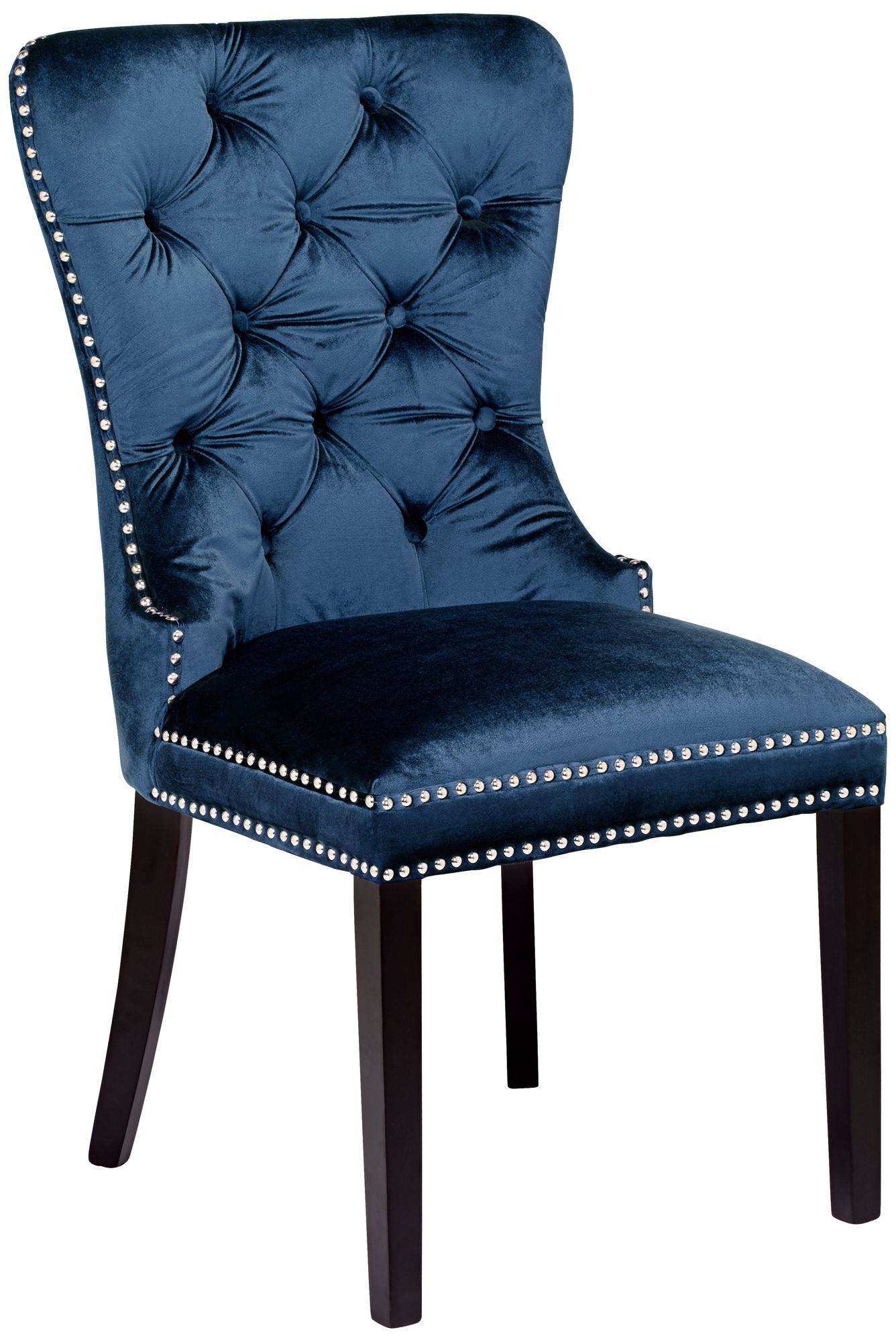 Euphoria Tufted Blue Velvet Dining Chair 1p330 Lamps Plus