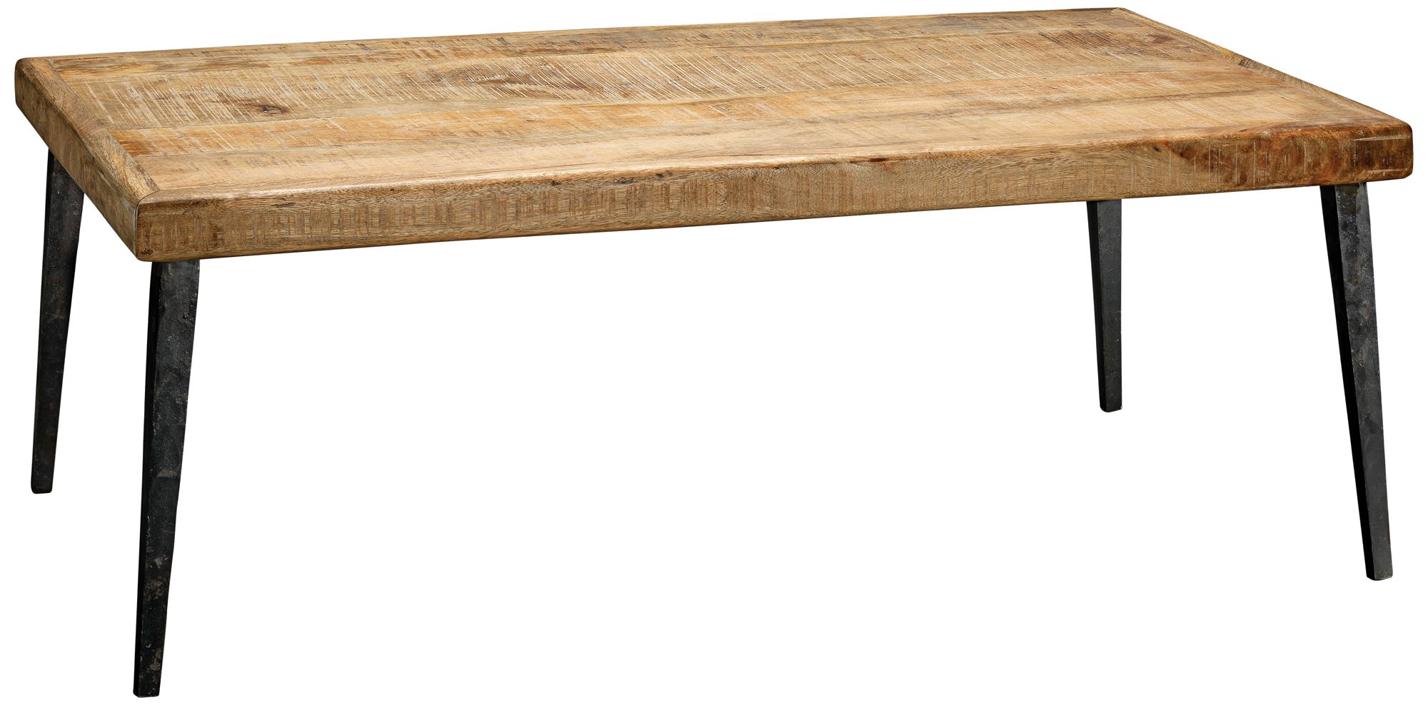 modern farmhouse 44 wide natural mango wood coffee table