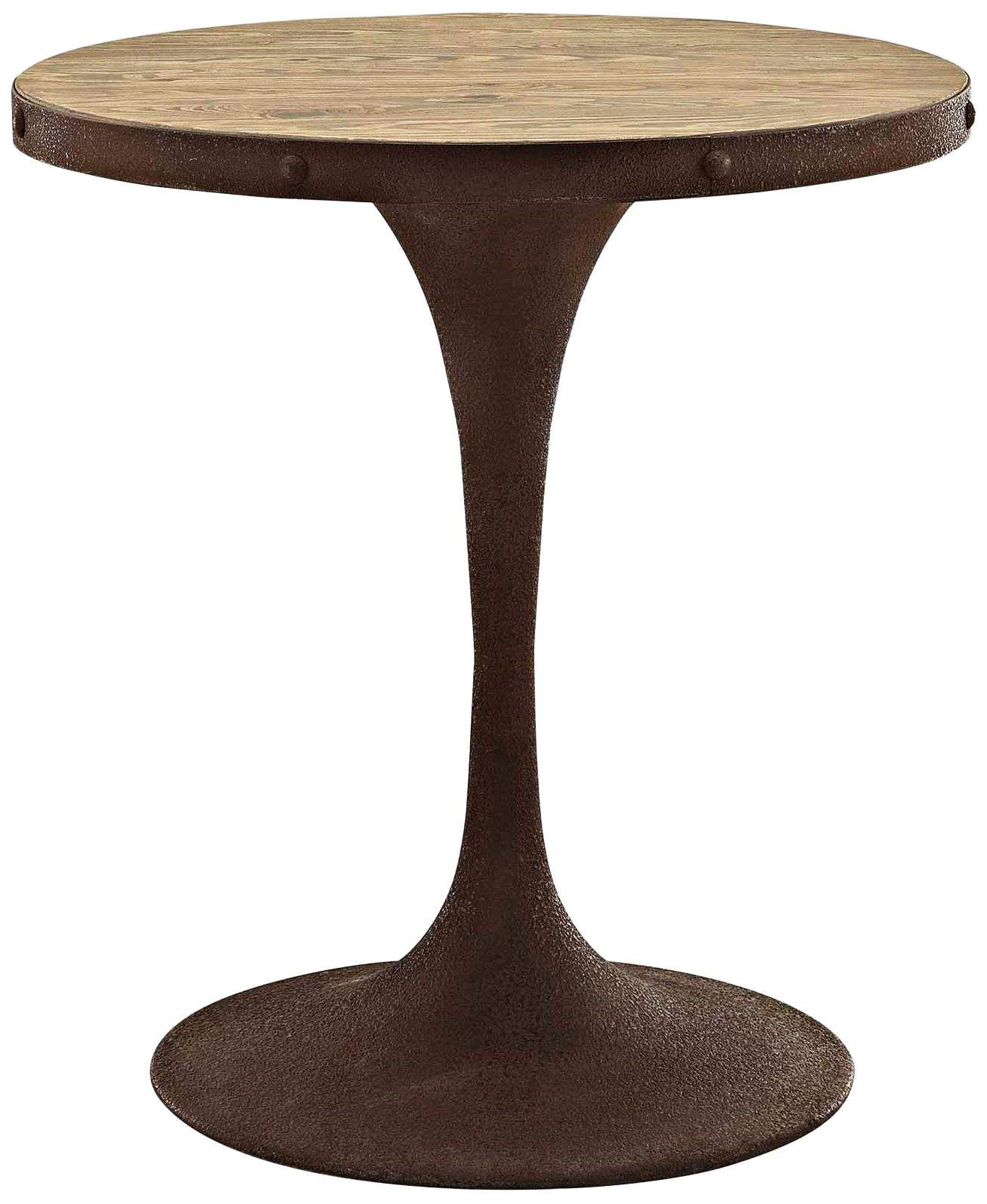 drive 30 high brown small round modern dining table