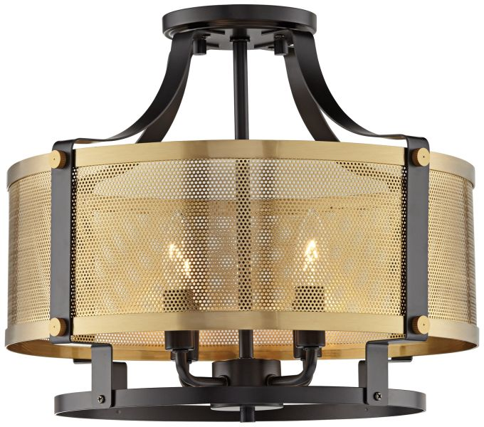 Brass   Antique Brass  Semi Flush Mount  Close To Ceiling Lights     Elysium 16 3 4  Wide Antique Brass 4 Light Ceiling Light