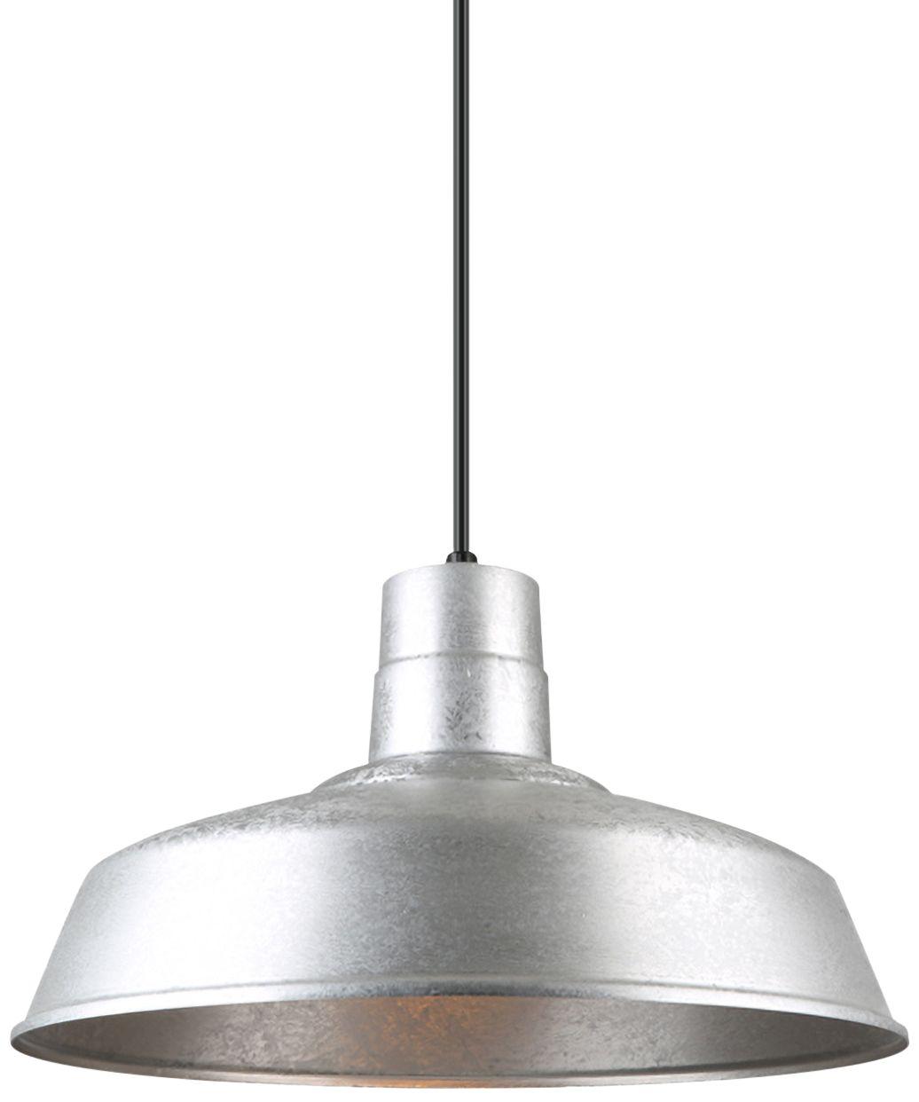 hi lite warehouse 18 wide galvanized metal pendant light
