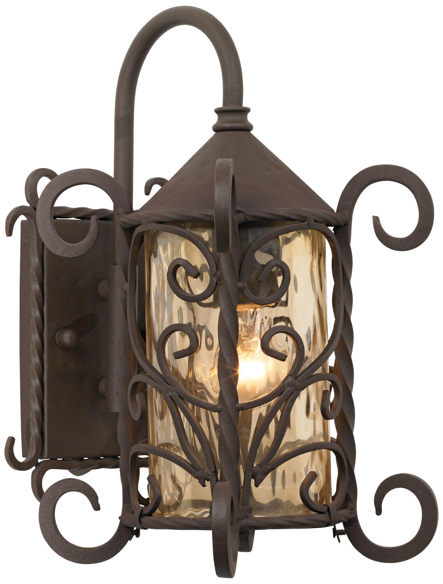 casa seville 13 1 4 high iron scroll outdoor wall light