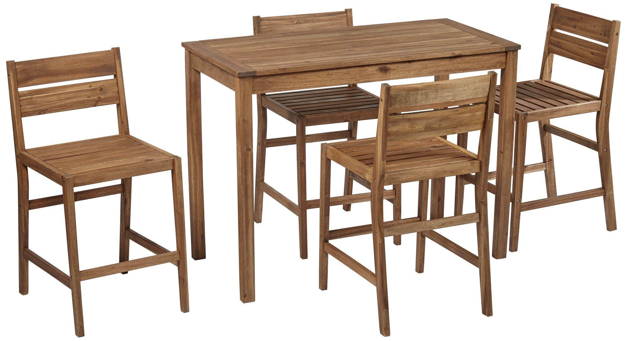 nova 5 piece outdoor bar table with 4 counter stools