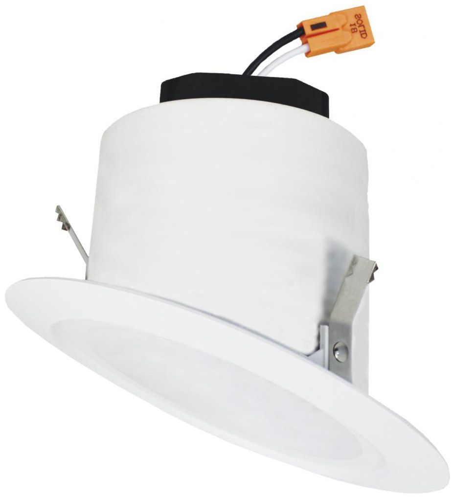 elco 4 white sloped ceiling led smooth recessed downlight