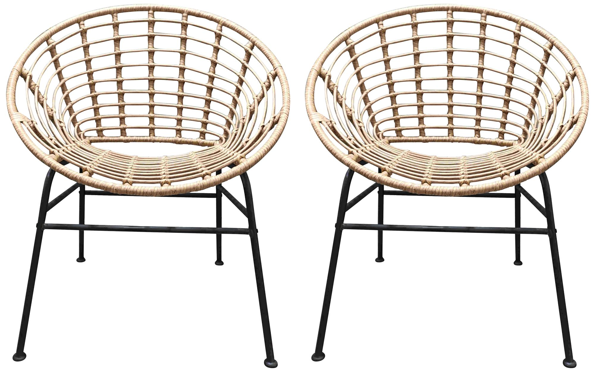 zuo cohen natural woven outdoor chairs set of 2