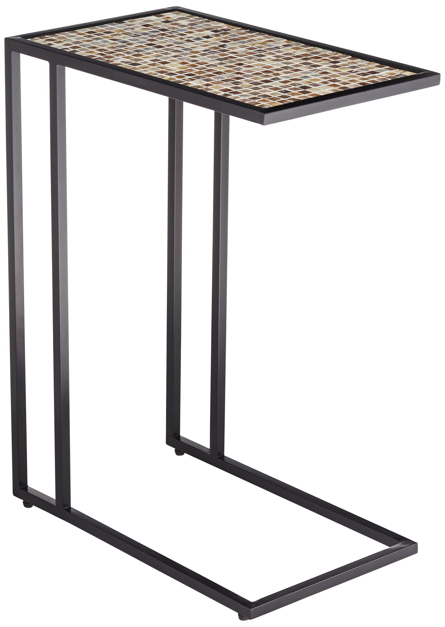 ikonois mosaic tile top c frame side table