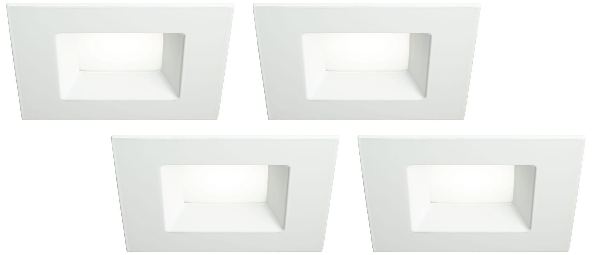 6 white square retrofit 15 watt led recessed lights 4 pack